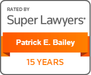 Super Lawyers Badge Patrick Bailey 15-years