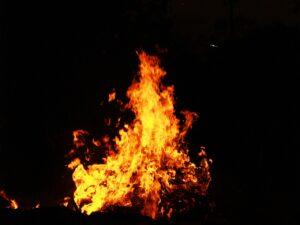 Fire representing fire on Conception Diving Vessel in Santa Cruz, CA