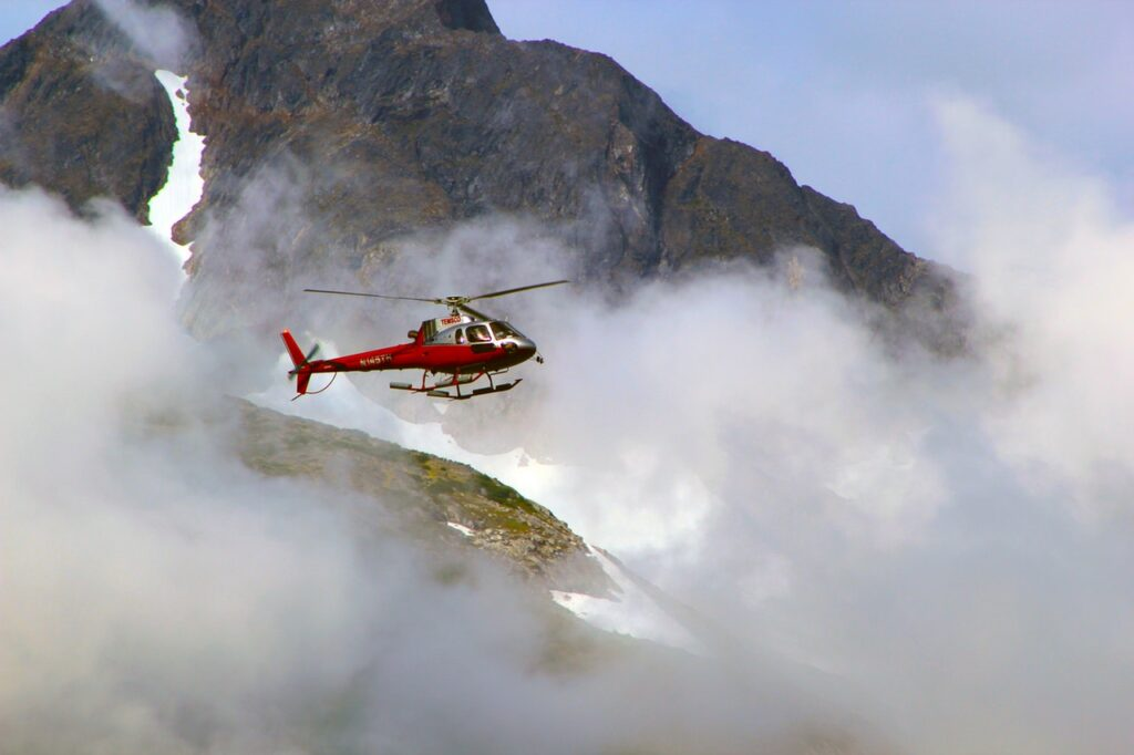 Helicopter in Fog